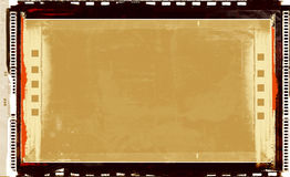Grunge film frame. Computer designed highly detailed grunge textured retro film frame background. Nice grunge element for your projects Royalty Free Stock Images
