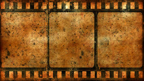 Grunge film frame. Computer designed highly detailed film frame with space for your text or image.Nice grunge element for your projects Royalty Free Stock Images