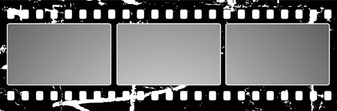 Grunge film frame. Editable  vector background - grunge film frame with space for your text or image Royalty Free Stock Photo