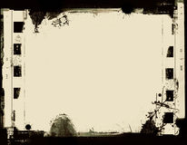 Grunge film frame. Computer designed highly detailed film frame with space for your text or image.Nice grunge element for your projects Stock Image