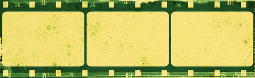 Grunge film frame. Computer designed highly detailed film frame with space for your text or image.Nice grunge element for your projects Stock Photos
