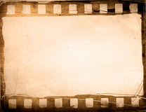 Grunge Film Frame effect. Great film strip for textures and backgrounds frame -with space for your text and image Royalty Free Stock Photography