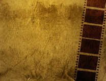 Grunge Film Frame effect. Great film strip for textures and backgrounds frame -with space for your text and image Stock Images