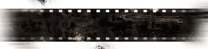 Grunge Film Frame with motion effect Stock Image
