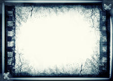 Grunge film frame with space for text or image royalty free illustration
