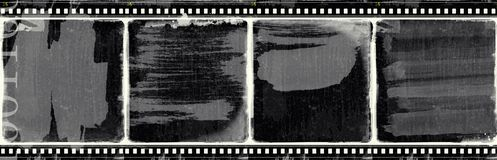 Grunge film frame with space for text or image Royalty Free Stock Photography