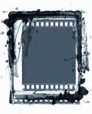 Grunge film frame with space for text or image Royalty Free Stock Image