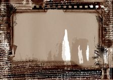 Grunge film frame with space for text or image Royalty Free Stock Photo
