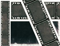 Grunge film frame with space for text or image Stock Images