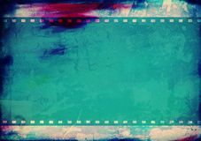 Grunge film frame with space for your text Stock Photography