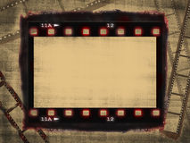 Grunge film poster. Grunge film frame with free space for your text Stock Image
