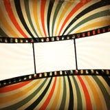 Grunge Film-Streifenhintergrund Stockbild