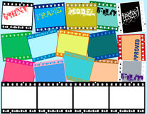 Grunge film strip. Colorfully strip of photographic film Stock Illustration