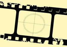 Grunge Film Strip. Vector illustration of an old film strip Royalty Free Stock Photo