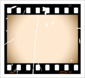 Grunge film strip. With sepia frame.  Please check my portfolio for more film illustrations Royalty Free Stock Photography