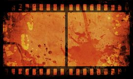 Grunge film strip. Grunge style film strip background Stock Photos