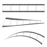Grunge film strip. Three film strip with blank place holder and twisted effect Royalty Free Stock Image
