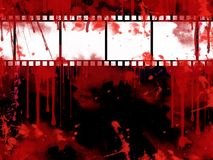 Grunge Film strip background. Grunge Background / wallpaper with film strip Royalty Free Stock Photography