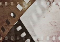 Grunge film strip background, illustration. Design element Stock Images