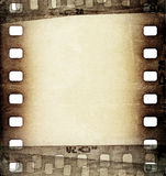 Grunge film strip background. Grunge scratched film strip background Royalty Free Stock Photo