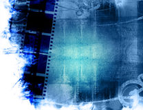 Grunge film strip backgrounds Royalty Free Stock Photos