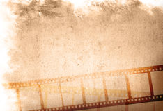 Grunge film strip backgrounds. Great film strip for textures and backgrounds-with space for your text and image Stock Image