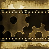 Grunge film strip frame background. Icon grunge film strip frame background Royalty Free Stock Photos