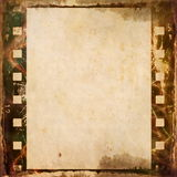 Grunge film strip frame background. Old grunge film strip background Stock Images