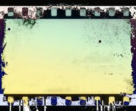 Grunge film strip frame with dripping. Retro design element. Grunge film strip frame with dripping Royalty Free Stock Photos