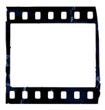 Grunge film strip. Old film strip isolated on white background Royalty Free Stock Images