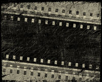 Grunge film stripe. With place for text Royalty Free Stock Image