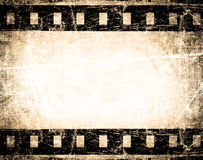 Grunge film stripe. With place for text Royalty Free Stock Images