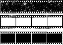 Grunge film strips. Various designs of grunge styled film strips Stock Photo