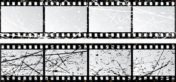 Grunge film strips. Film strips with a grunge texture Stock Images