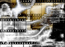 Grunge film strips background Royalty Free Stock Images