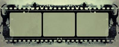 Grunge filmar inramar med utrymme för text eller avbildar royaltyfria bilder