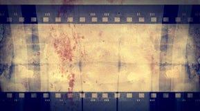 Grunge filmar inramar med utrymme för text eller avbildar Arkivfoton
