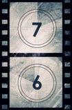 Grunge Filmcountdown Stockfotografie