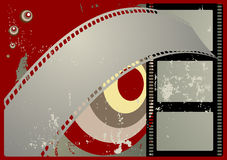 Grunge Filmfeld Lizenzfreie Stockbilder