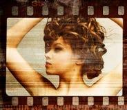 Grunge Filmfeld. Retro- Schuß stockbilder