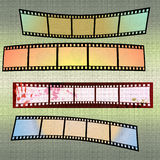 Grunge filmramar Fotografering för Bildbyråer
