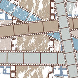 Grunge films background. Grunge film strips background. Abstract illustration Stock Photography