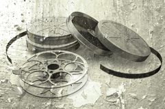 Grunge films reels. Sepia toned grunge film reels Royalty Free Stock Image