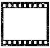 Grunge filmstrip图标 免版税库存照片