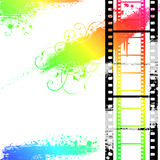 Grunge Filmstrip. Colorful Background with Grunge Filmstrip Royalty Free Stock Image