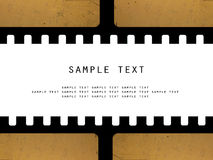 Grunge filmstrip. Filmstrip 's frame with space for text Stock Image