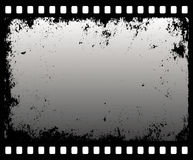 Grunge filmstrip. In gray scale -  illustration Royalty Free Stock Photo