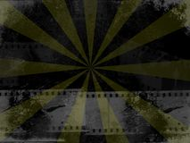 Grunge Filmstrip. Abstract grunge style background featuring filmstrips Royalty Free Stock Image
