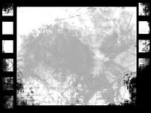 Grunge filmstrip. With some stains Royalty Free Stock Photo