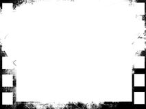 Grunge filmstrip. On a white background Royalty Free Stock Photography